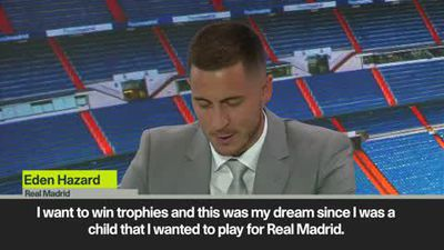 'It was a dream to play for Real Madrid' says new signing Hazard