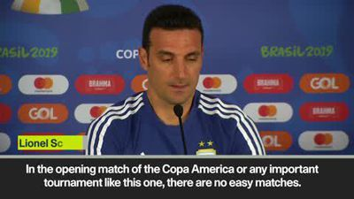Scaloni expects a tough start to the tournament as Argentina prepare to face Colombia