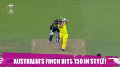 ICYMI - Finch hits 150 in style for Australia against Sri Lanka at the Cricket World Cup