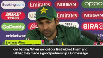 'It is hurting' - Pakistan captain on defeat by India at Cricket World Cup