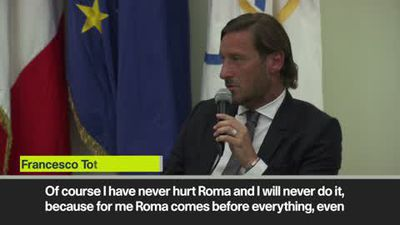 'Like dying' Totti delivers emotional Roma farewell speech