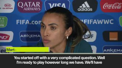 Marta insists she's ready to play and that Brazil will go for the win
