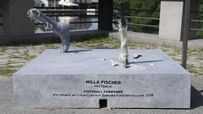 'Horrible news' after statue vandalised of Swedish football icon Nilla Fischer