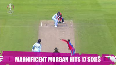 Skipper Eoin Morgan breaks record for most sixes in ODI