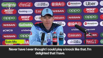 'Never have I ever thought I could play a knock like that' Eoin Morgan