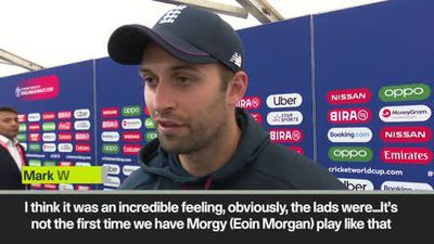 Mark Wood says team enjoyed front row seat for Morgan's spectacular performance
