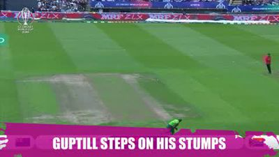 ICYMI Guptill so unlucky as he steps on his own stumps