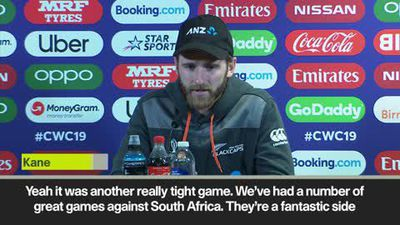 'South Africa are a fantastic side and had to beat' Williamson