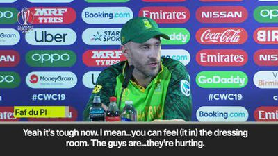 'I'm feeling like I'm five years older, my body is aching after that' Faf du Plessis