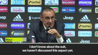 'I'll wear anything as long as I'm not naked!' Sarri