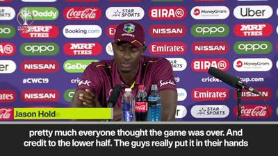'Brathwaite was outstanding' - Holder on heartbreaking West Indies defeat