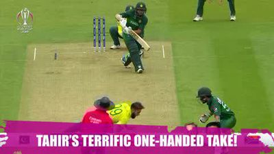 ICYMI - Tahir's terrific one-handed take!