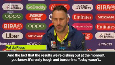 'It's a little embarrassing' - Faf du Plessis on South Africa's World Cup exit