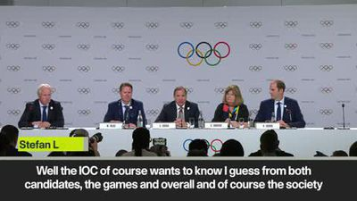 Lofven says his country 'will deliver' a successful 2026 Olympics, as it's in their ''DNA''