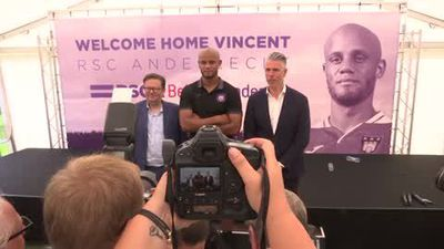 Vincent Kompany is officially unveiled as Anderlecht player-coach