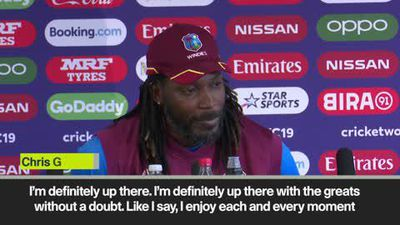 "Gayle says he's ""one of the greats"" as West Indies look ahead to India clash"