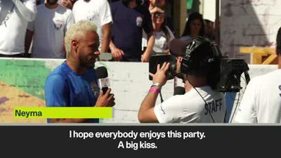 """Neymar """"almost 100 percent fit"""" as he plays in the final of his five-a-side tournament"""