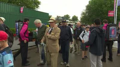 Fans arrive for the World Cup final between New Zealand and England