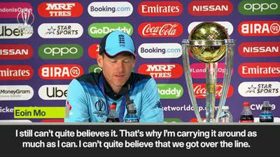 Eoin Morgan pays tribute to Ben Stokes as he reflects on England's World Cup title