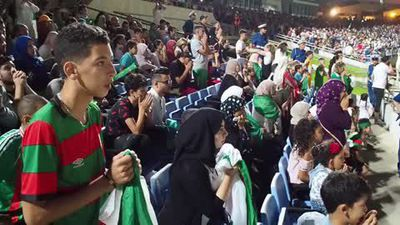 Wild celebrations from Algeria fans after win sends them to AFCON final
