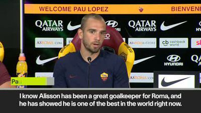 'No Alisson comparison' says new Roma goalkeeper Pau Lopez