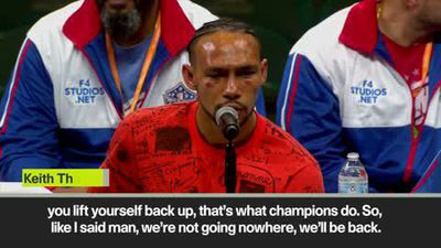 """I'll be back"" says defeated Thurman following Pacquiao win"