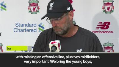 'It's not fair to judge young boys' Klopp