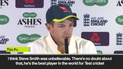 'Steve Smith is the best player in the world for test cricket' Tim Paine