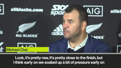 'It's pretty raw' Cheika on heavy defeat by New Zealand