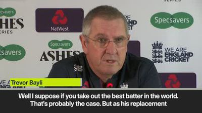 'One player won't decide The Ashes' - England head coach on Smith's third test absence