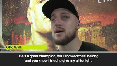 """""""I showed that I belong"""" says respectful Wallin after points defeat at the hands of Fury"""