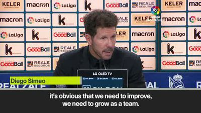 Simeone on whether Atletico Madrid's defeat to Real Sociedad was a 'lesson'