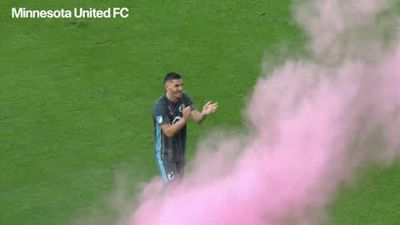 Player helps Minnesota United fans with gender reveal