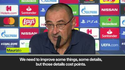 Sarri 'satisfied and upset' as Juventus concede late equaliser