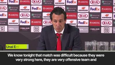"""That match was difficult"" says Emery despite beating Eintracht Frankfurt 3-0"