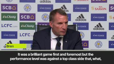 Rodgers 'very proud' of Leicester for beating Tottenham