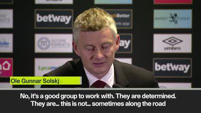 'Sometimes there's bumps in the road' - Solskjaer on Man Utd defeat