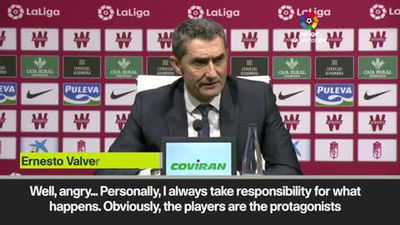 Valverde admits he's angry after Barcelona were stunned by Granada