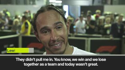 """Today wasn't great,"" says Hamilton after finishing fourth in Singapore"