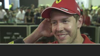 Vettel and Verstappen celebrate podium finishes in Singapore