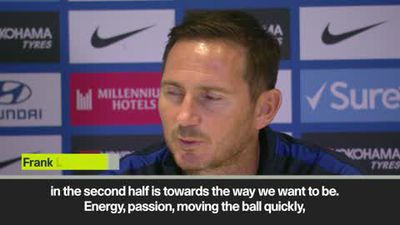 Lampard says he is proud of Chelsea's second half performance against Liverpool