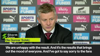 'I've got to say sorry to the fans' Solskjaer after 1-0 loss to lowly Newcastle