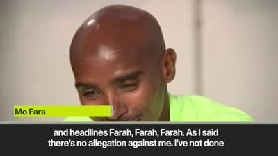 Farah accuses media of having an 'agenda' with him, Lewis Hamilton and Raheem Sterling