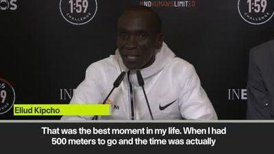 'The best moment in my life' – Kipchoge after running marathon under two-hours