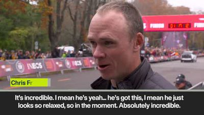 """""""Incredible,"""" says Froome as Kipchoge runs past during marathon challenge"""