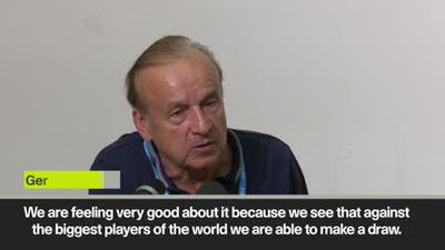 Coach Gernot Rohr 'proud of Nigeria' after they hold Brazil 1-1 in Singapore
