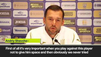 'Don't give space to Ronaldo' Shevchenko warns Ukraine defence ahead of Portugal clash