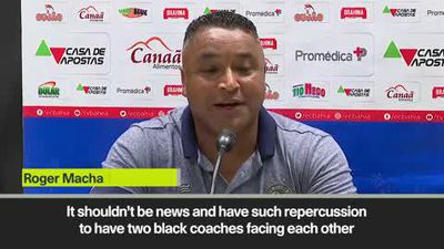 'Two black coaches facing each other shouldn't be news, but it is' - Bahia head coach