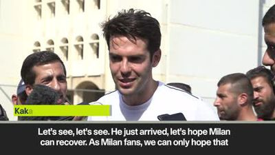 Kaka on AC Milan appointing Pioli as their new head coach