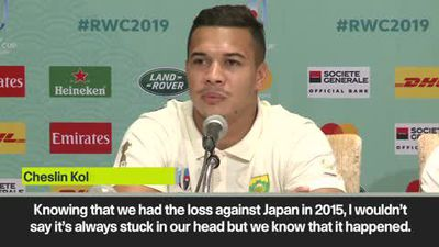 South Africa not dwelling on 2015 shock defeat as they prep for Japan in quarters